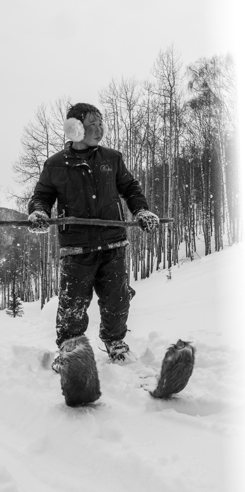 Batwalzo, a traditional Altai Skier